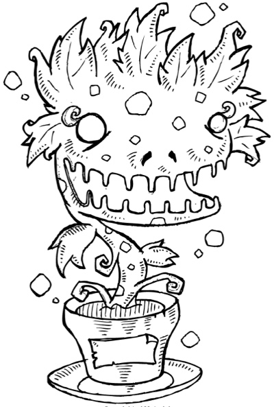 Monsters coloring book for grown ups