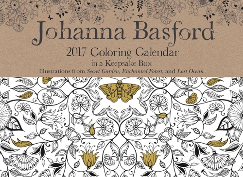 Johanna Basford 2017 Coloring Day To Calendar