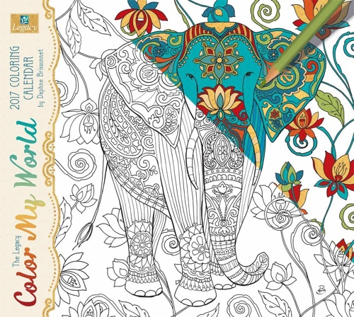 Legacy Publishing Group 2017 Color My World Wall Calendar