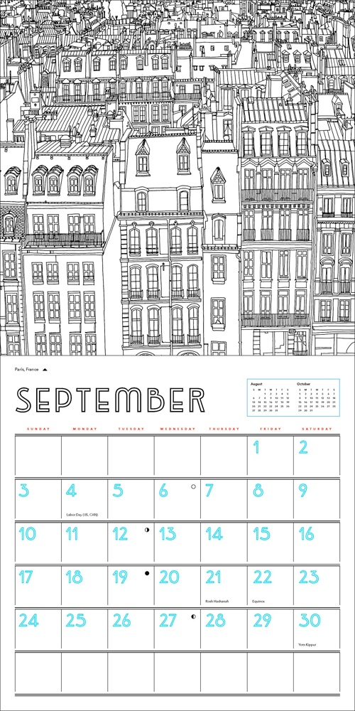 Fantastic Cities 2017 Wall Calendar