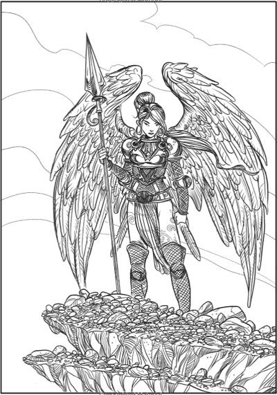 creative haven winged fantasy designs coloring book - Fantasy Coloring Book