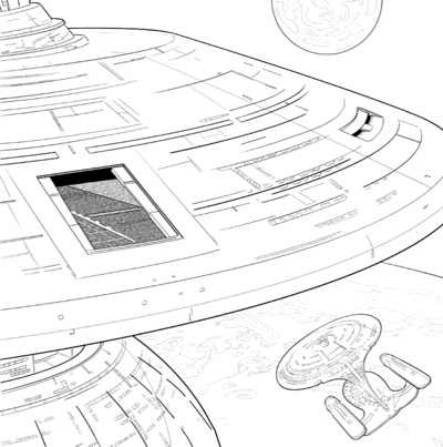 star trek the next generation adult coloring book - Star Trek Coloring Book