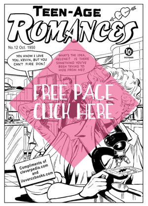 Free adult coloring book page courtesy of Cleverpedia and Romance Comic Coloring Books!