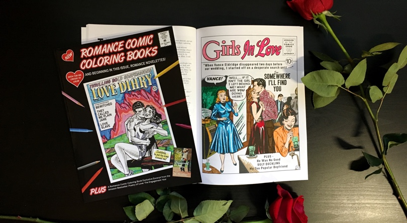 Romance Comic Coloring Book #8 Review & Giveaway
