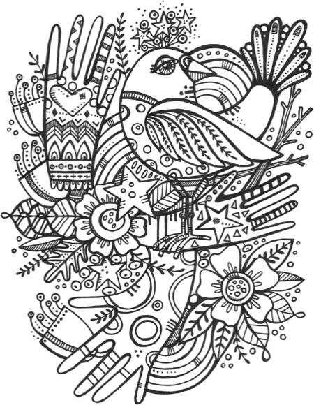 free coloring pages for february | Hottest New Coloring Books: February 2017 Roundup