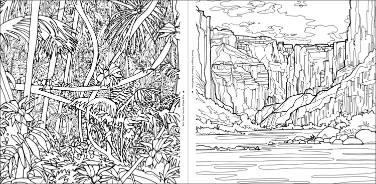 Fantastic Planet: A Coloring Book of Amazing Places Real and Imagined