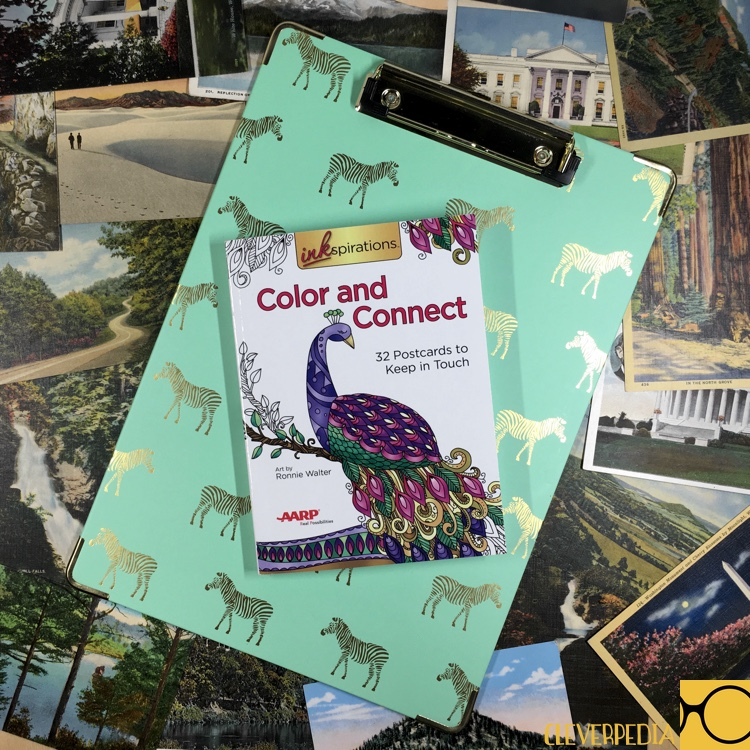 Postcard coloring books give your coloring more functionality -- now you can use it to stay in touch with the people you love! Enter to win this postcard coloring book, Color and Connect, from Inkspirations! Four winners have a shot at over $75 in prizes!