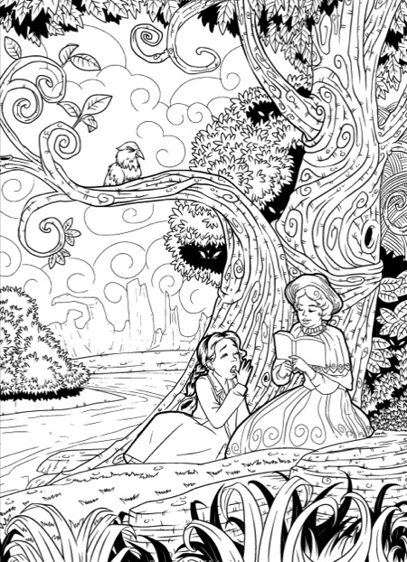 alices nightmare adventures in wonderland adult coloring book - Halloween Coloring Books