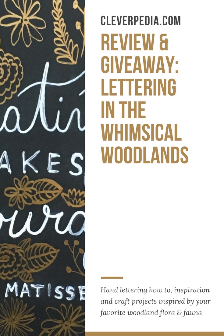 Lettering in the Whimsical Woodlands is a beautiful new book about hand lettering for beginners by Peggy Dean, the artist behind The Pigeon Letters!