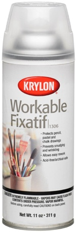 Krylon Workable Fixatif is a great tool for protecting your coloring book pages from smudging!