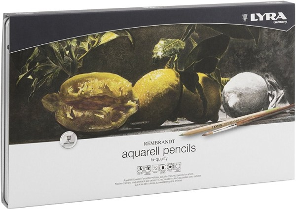 Lyra Rembrandt Aquarell Colored Pencils Have Oil Cores Which Higher Color Output Than Wax