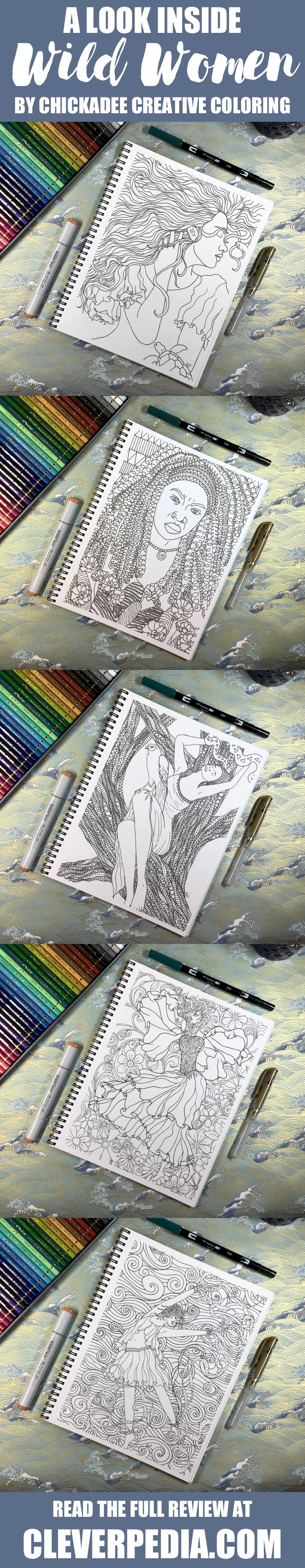 A Look Inside Wild Women An Adult Coloring Book By Chickadee Creative This