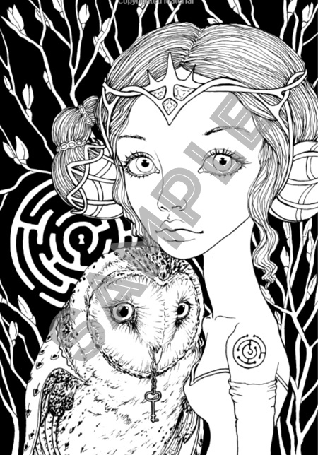 Inklings 3 Fantasy Adult Colouring Book