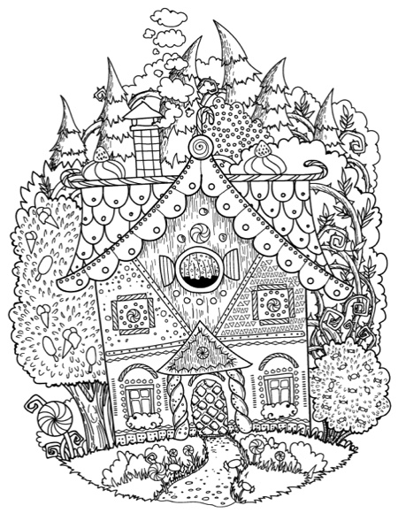 The Fantastic World Of Brothers Grimm Adult Coloring Book