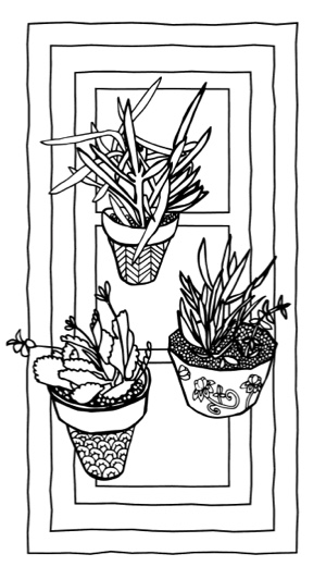 Succulent Serenity, Cactus Calm: A Stress Relieving Coloring Book for Adults