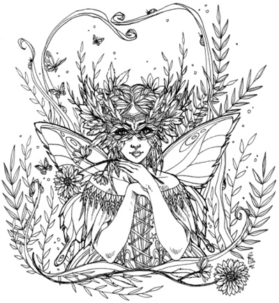 World of Fairies Coloring Book by Sara Burrier