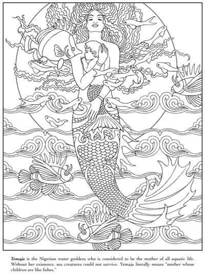 Mythical Mermaids Coloring Book by Dover Coloring Books