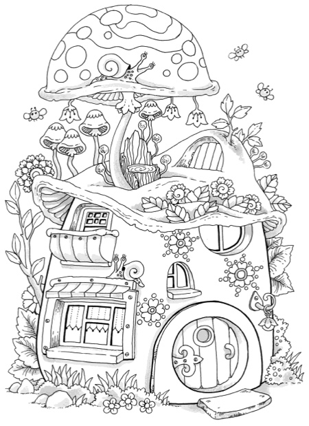 small coloring pages for adults - photo#8