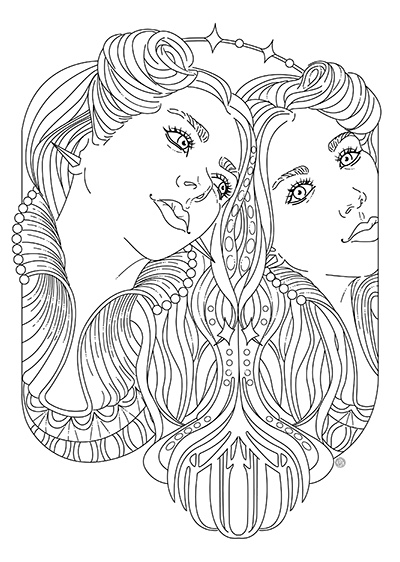 bella futura a coloring book of beauties beasts of the future by jennifer zimmermann - A Coloring Book