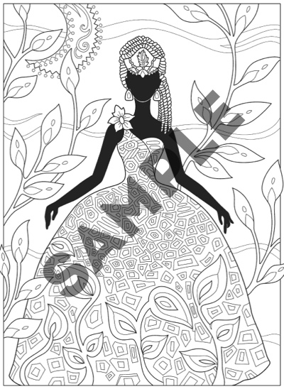 Creative Haven African Glamour Coloring Book By Marjorie Sarnat And Cia Slater