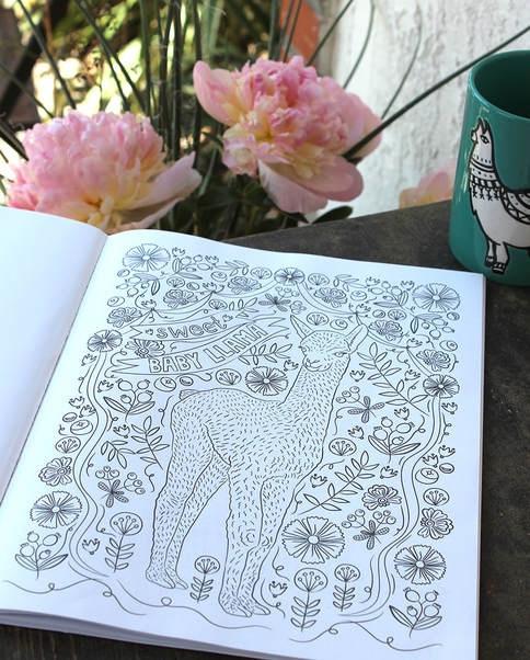 I Llove Llamas Coloring Book By Jen Racine