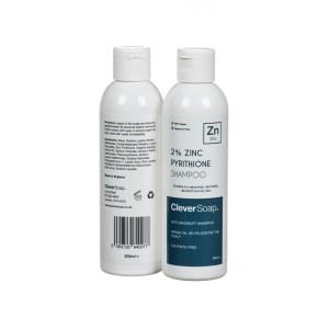 2% zinc pyrithione shampoo bottle double