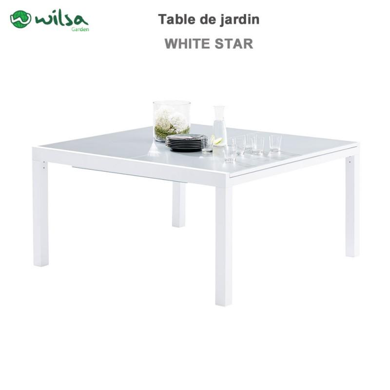 table de jardin whitestar carre 8 12 places