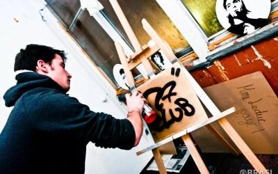 27 CLUB – Graffiti stencil on Records