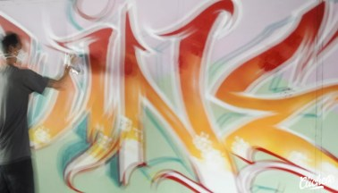 Welcome Coline - Graffiti Mural Chambéry - 2015-13