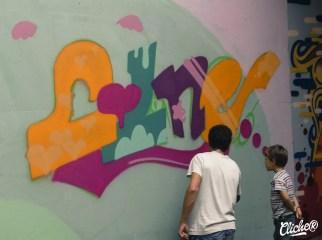 Welcome Coline - Graffiti Mural Chambéry - 2015-15