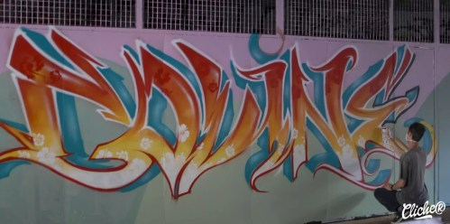 Welcome Coline - Graffiti Mural Chambéry - 2015-17