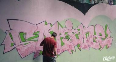 Welcome Coline - Graffiti Mural Chambéry - 2015-18