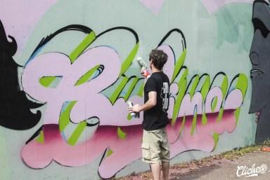 Welcome Coline - Graffiti Mural Chambéry - 2015-2