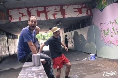 Welcome Coline - Graffiti Mural Chambéry - 2015-20