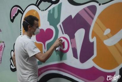 Welcome Coline - Graffiti Mural Chambéry - 2015-27