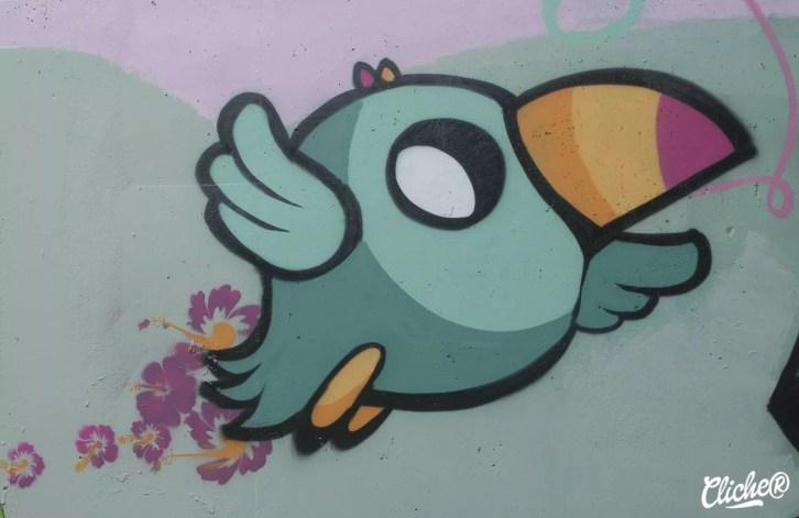 Welcome Coline - Graffiti Mural Chambéry - 2015-28