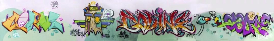 Welcome Coline - Graffiti Mural Chambéry - 2015-34