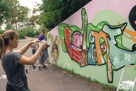 Welcome Coline - Graffiti Mural Chambéry - 2015-5