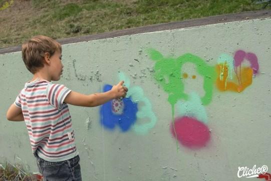 Welcome Coline - Graffiti Mural Chambéry - 2015-6