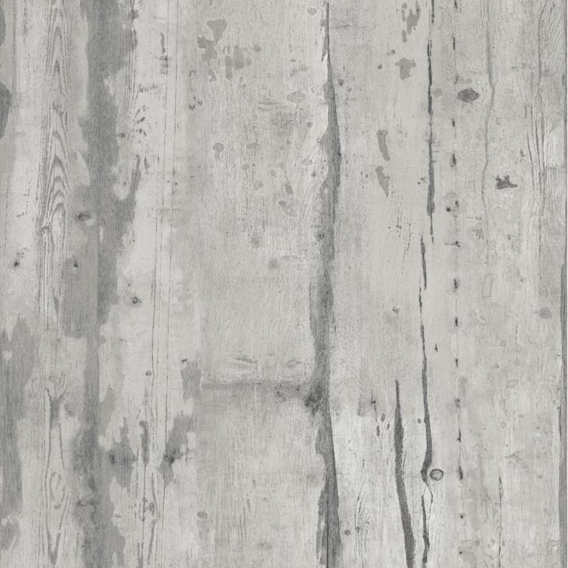 papier peint vinyle trompe l oeil effet bois gris vintage ugepa