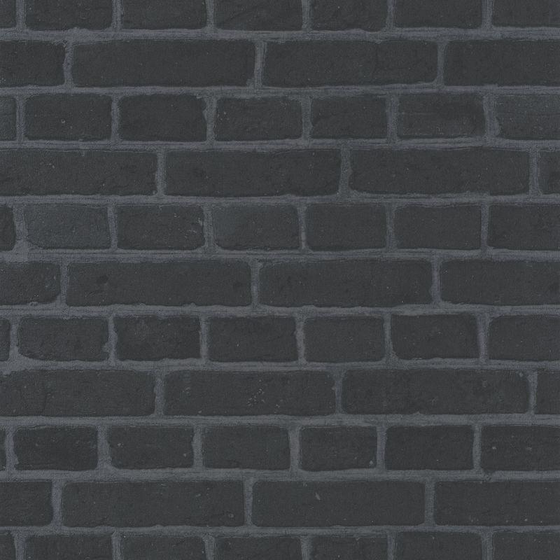 papier peint briques noires au bistrot d alice caselio