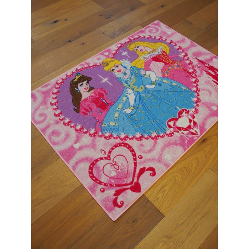 tapis disney enfant princesses jewels 95x133cm