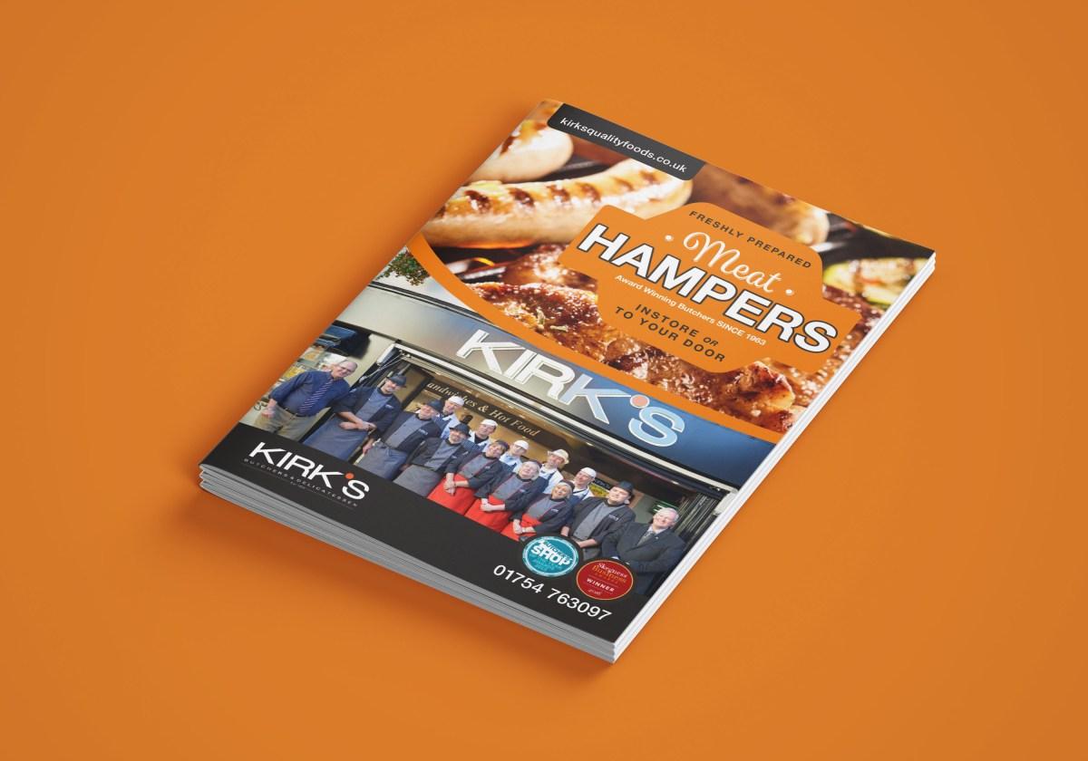 Kirks Hamper Brochure Design