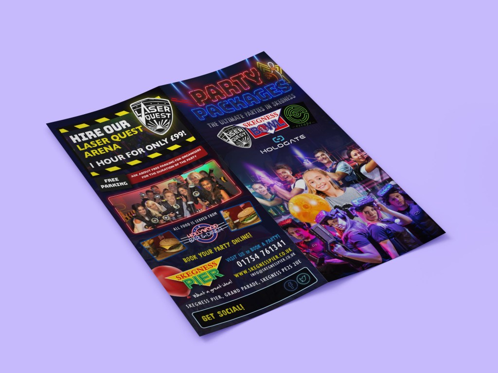 Skegness Pier Party Leaflet Design
