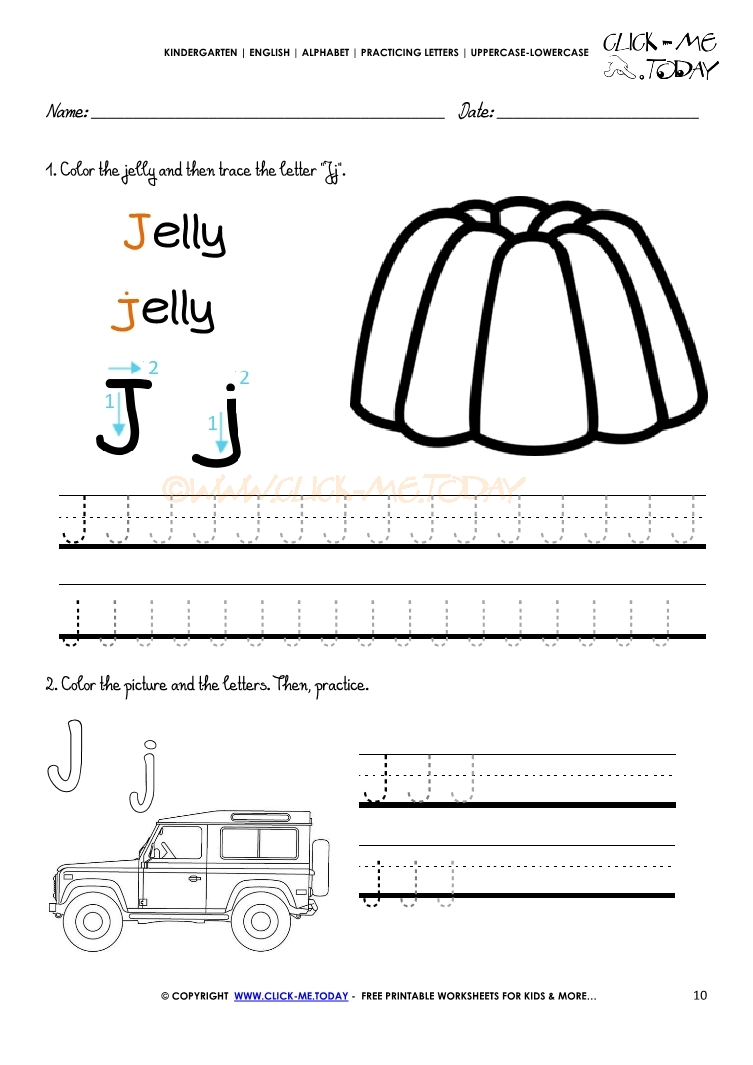 worksheet Letter J Worksheet letter j handwriting worksheets lv crelegant com kindergarten writing learning to write the alphabet dash trace worksheet practice j