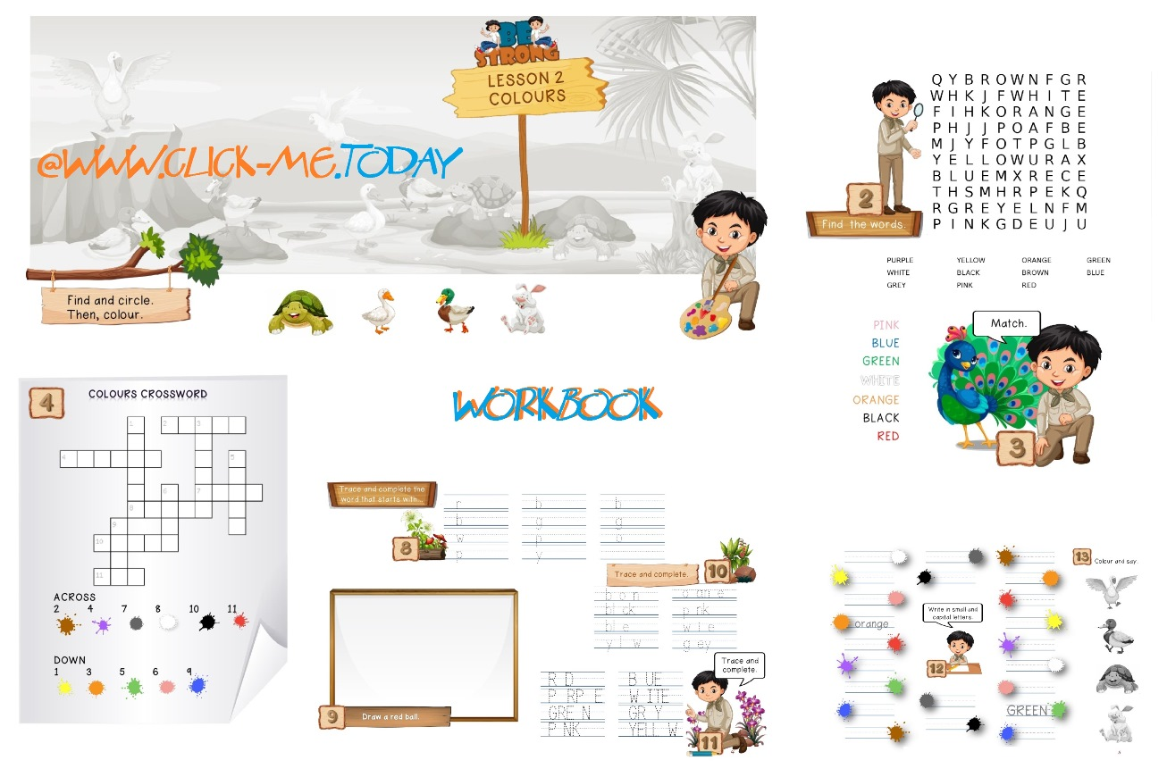 Free Esl Pre Junior Be Strong Workbook Lesson 2 Colours