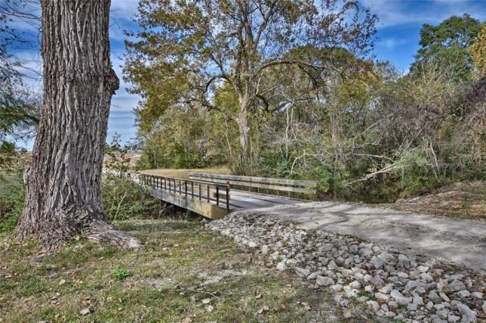3896 CR 305. Bridge over creek.