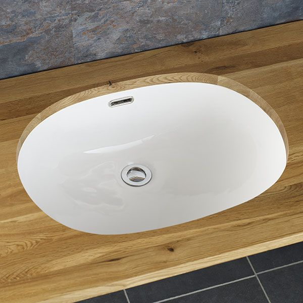 undercounter oval bathroom sink large inset basin in white ceramic 540mm x 400mm silves