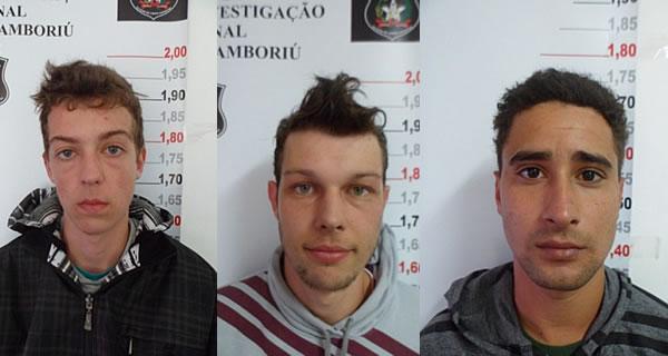 Luciano Venera Junior, Heferson Venera e Wilson Cachoeira. Foto: Divulgação / Polícia Civil