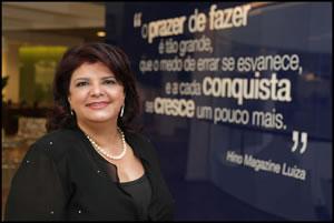 A Presidente da rede varejista Magazine Luiza, a empresária Luiza Trajano (Foto Divulgação)